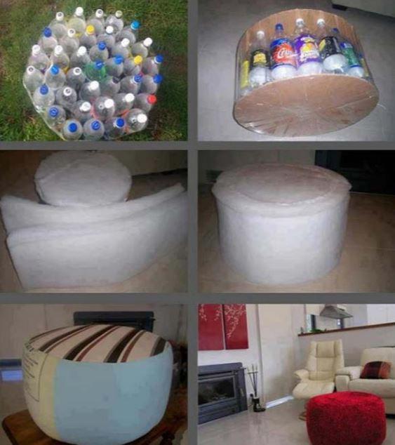 Soda Bottles Stool