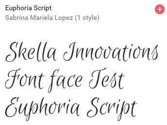 euphoria script google font